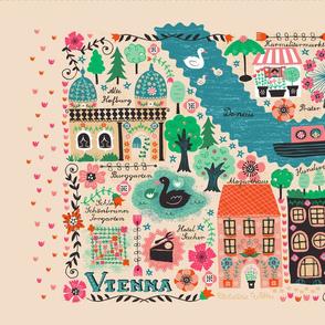 Vienna Map Tea Towel