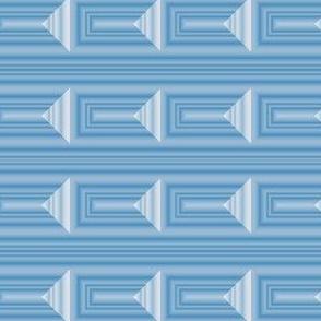Soft Blue Op Art Geometric