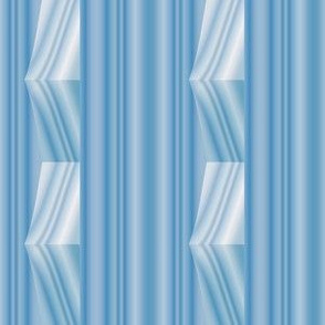 Soft Blue Stripes with Op Art