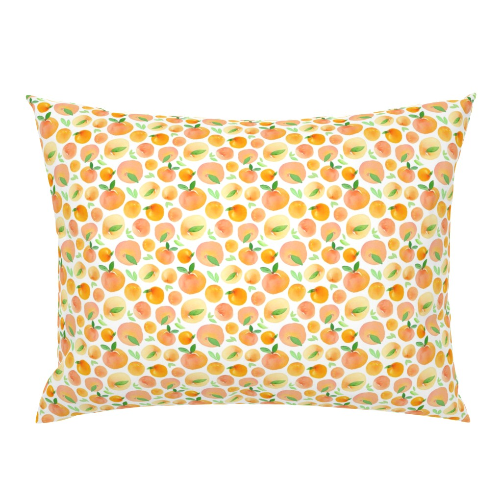 Campine Pillow Sham featuring Watercolor Peaches by dinaramay