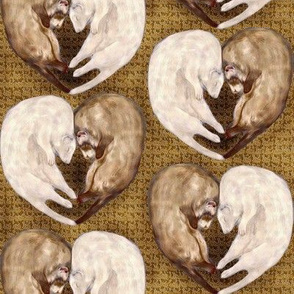 Ferret Love Hearts