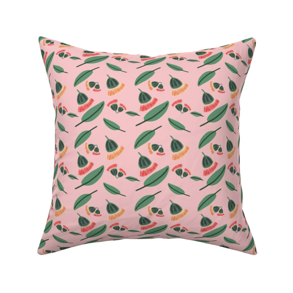 Catalan Throw Pillow featuring Gum nut blossom by spenceaustralia