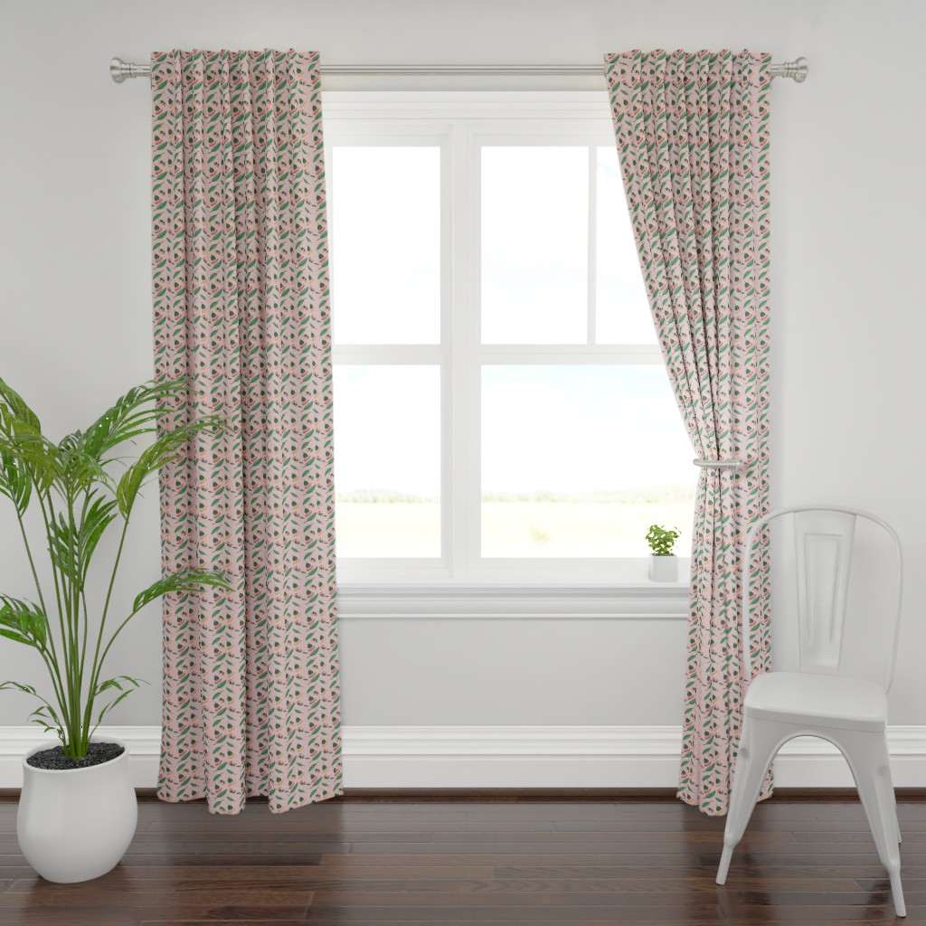 Plymouth Curtain Panel featuring Gum nut blossom by spenceaustralia
