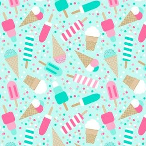 Ice cream party on mint - small