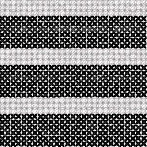 Black and White Cross Stitch Look Stripe