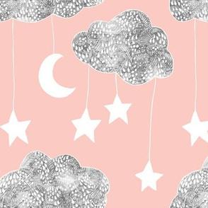 Sailing Dreams Clouds- Peach