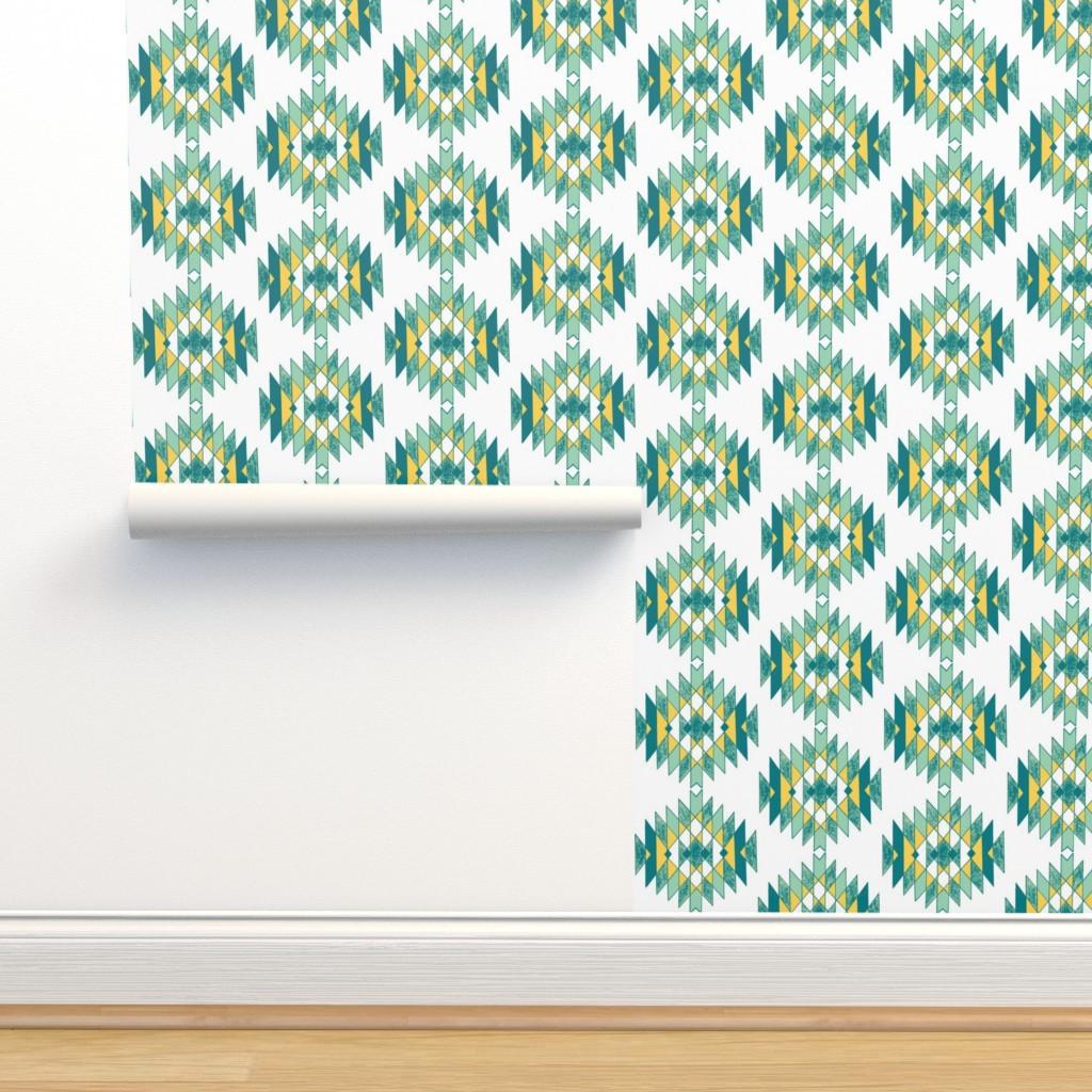 Isobar Durable Wallpaper featuring Cool Pineapples by kari_goodwin