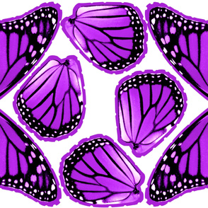 Purple Monarch Butterfly Costume Wings