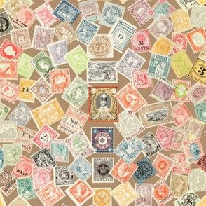Late 19th Century Stamps ~ Milky Tea