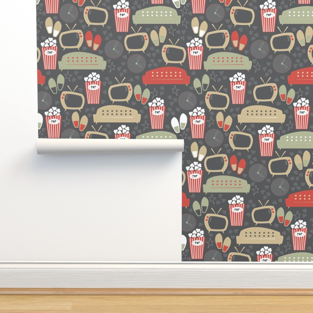 Isobar Durable Wallpaper featuring Snack Time, Slack Time by papercanoefabricshop
