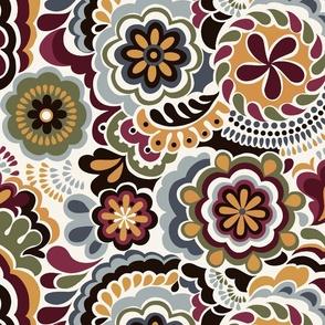 Clown dots_orange
