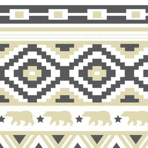 Father Bear - Tribal Pattern (Large Scale)