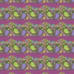 Paisley Grapes in a row