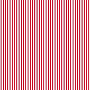 smaller Popcorn stripe (Christmas red)