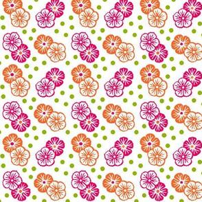 duo japanese flower kokeshi palette
