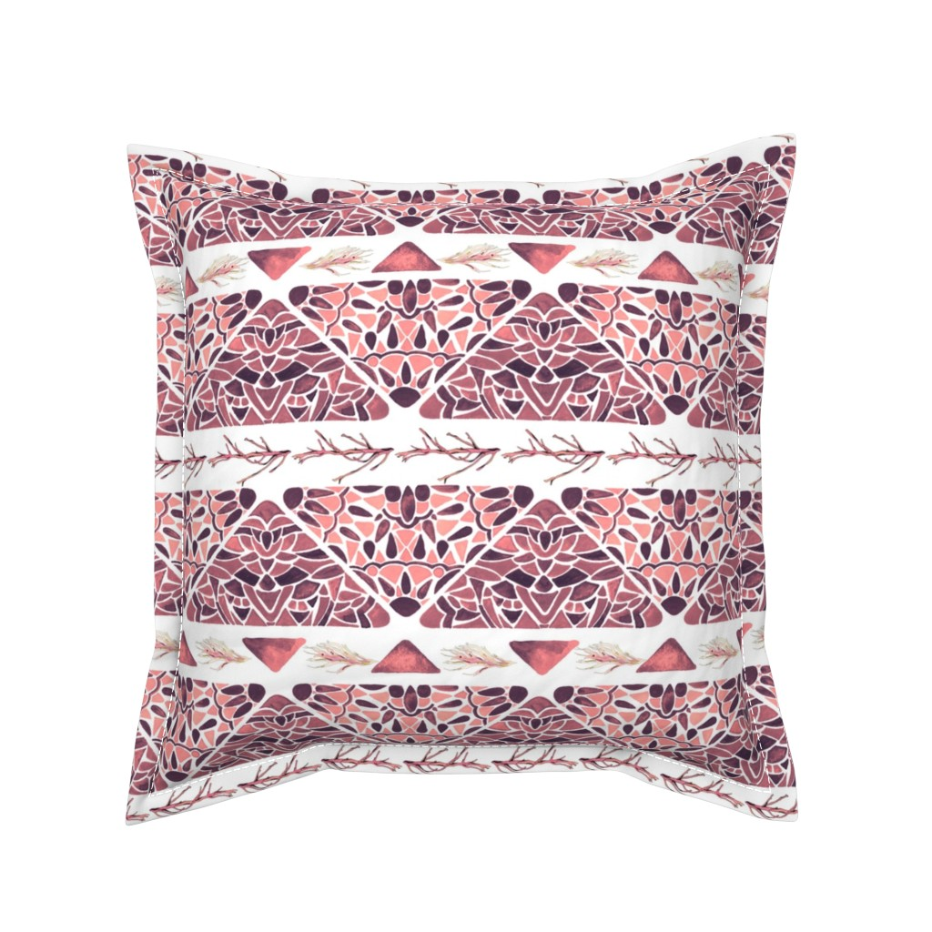 Serama Throw Pillow featuring Vintage Seaweed by christinemay