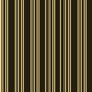 Steampunk Barcode Stripe in Brown and Gold