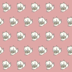 Kitty and Fish  Pastel Pink