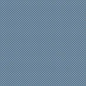 blue polka dots