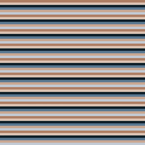 blue and brown stripes