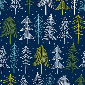 Oh' Christmas Tree - Navy Blue Regular Scale