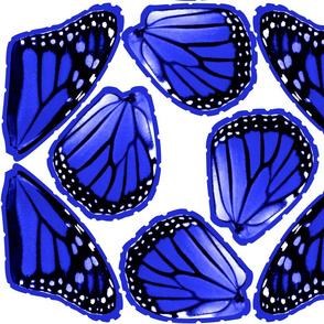 Fat Quarter Blue Monarch Butterfly Costume Wings