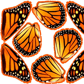 Fat Quarter Orange Monarch Butterfly Wings
