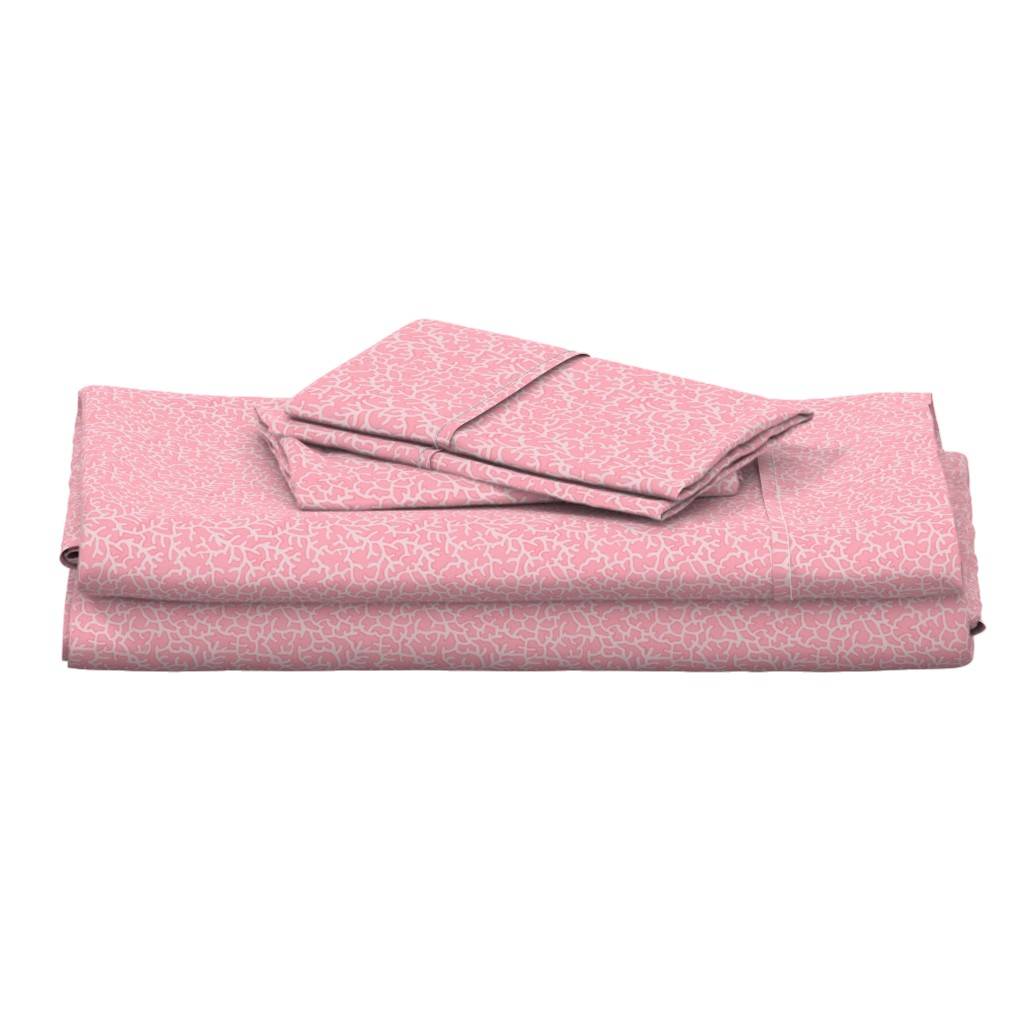 Langshan Full Bed Set featuring Pinky Coral Pattern by lauriekentdesigns