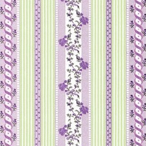 Marie Antoinette Floral Ticking ~ Suffragette