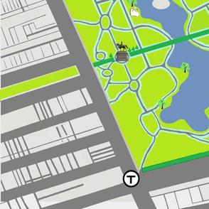 Boston Common/Boston Garden play mat 1 yard