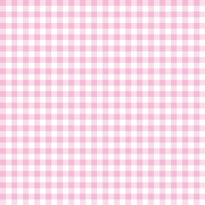 "1/2"" Gingham - Light Pink"