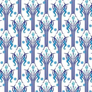 Seahorse Wave Blue 2