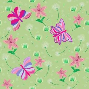 Faded Dandelions Butterfly Garden