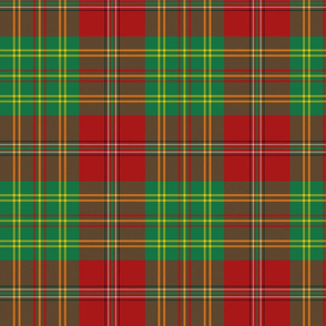 "Leask tartan, 6"" modern colors"