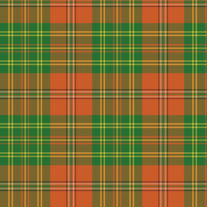 "Leask tartan, 8"" weathered"