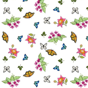 butterflies scattered