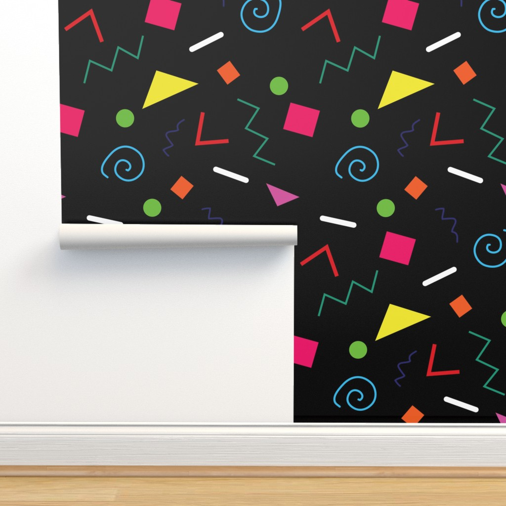 Isobar Durable Wallpaper featuring Early 90's Confetti Toss by elliottdesignfactory