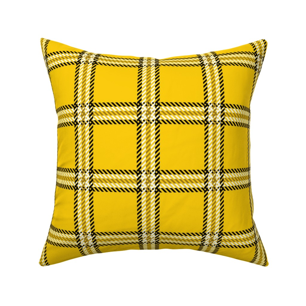 Catalan Throw Pillow featuring Cher's Plaid by elliottdesignfactory