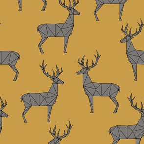 Deer - Gold Gray