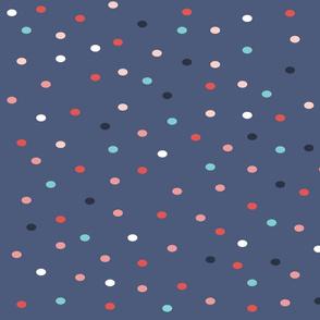 dots // blue, polka dot, spots, sweet, little, dots, fabric, coordinate