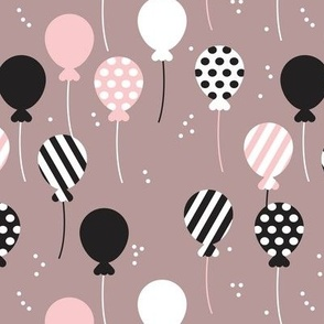 Party balloon fun birthday wedding theme in modern pastel colors