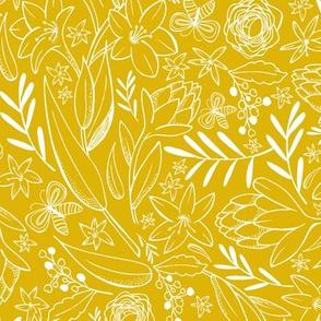 Botanical Sketchbook - Floral Golden Yellow