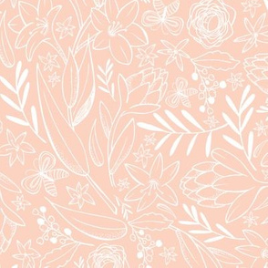 Botanical Sketchbook - Floral Pink Blush