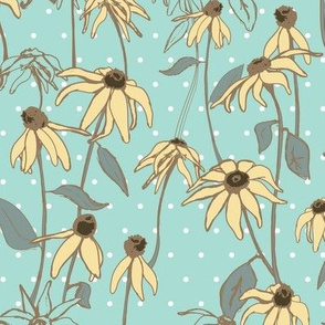 Floral Polka Dot