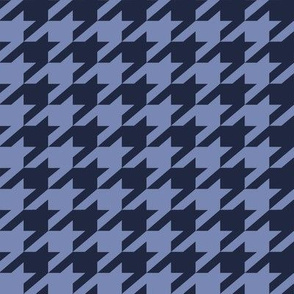 Holmes Houndstooth in atlantic navy on ink