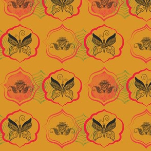 lotus_pink_on_yellow_butterfly_motif
