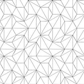 hexagon #2 large black on white