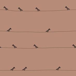 birds black on dark pink ss16