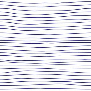 stripes blue on white