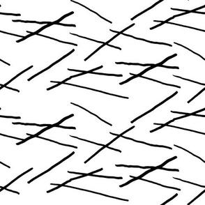 sticks black on white